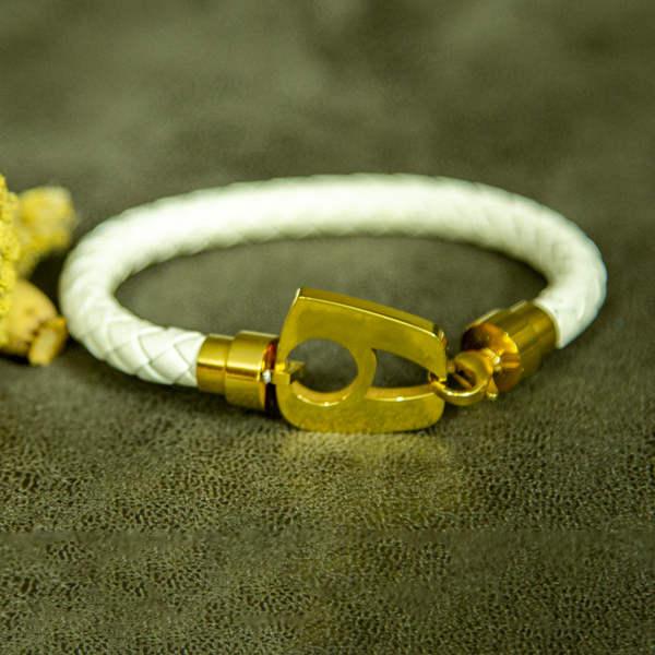 دستبند چرم و استیل ضد حساسیت برند نیمانی NIMANI - بلاران