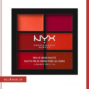 پالت رژ لب برند نیکس NYX Pro Lip Cream Palette Reds